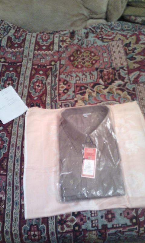 Рубашка мужская ГДР в упаковке воротник 44